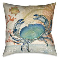 Laural Home Crab Decorative Throw Pillow (18 inches x 18 inches)