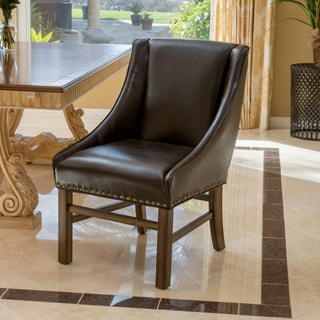 James Bonded Leather Dining Chair by Christopher Knight Home