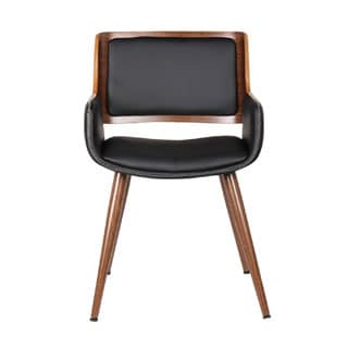 Adeco PU Top Bentwood Leisure Mid-century Style Chair