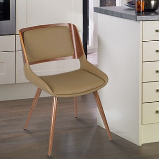 Adeco Deep Beige Bentwood Leisure Chair