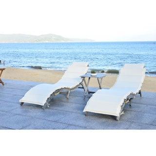 Safavieh Outdoor Living Pacifica Grey/ Beige Piece Lounge Set