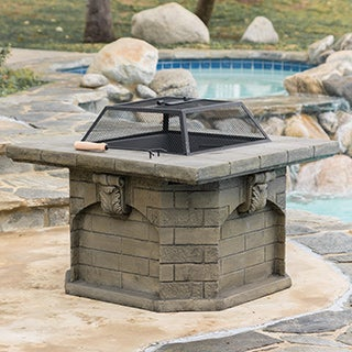 Christopher Knight Home Merlin Outdoor Natural Wood Fire Pit