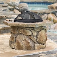 Emmerson Outdoor Natural Stone Fire Pit by Christopher Knight Home
