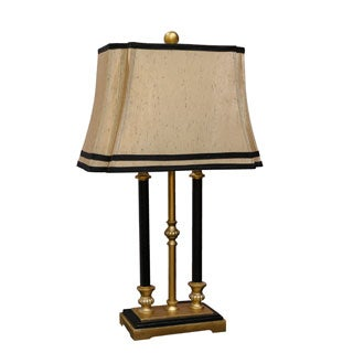 Bombay Outlet Gold Triple Pillar Faux Candle Table Lamp