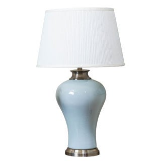 Somette Pale Blue Tapered Table Lamp