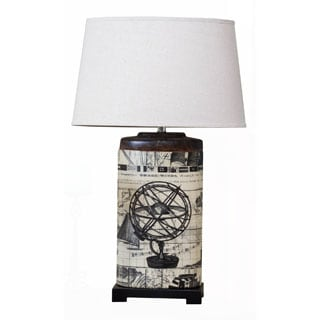 Somette Oval Archaic Globe Table Lamp