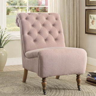 Linon Rosa Tufted Chair - Pink (Option: Pink)