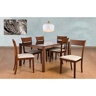 Olivia Mid-Century 7-piece Sand Living Room Dining Set