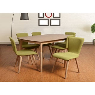 Dalia Mid-Century Green 7-piece Living Room Dining Set