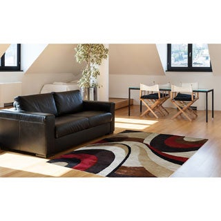 "Home Dynamix Tribeca Collection Contemporary Brown-Red Area Rug (39"" x 55"" )"