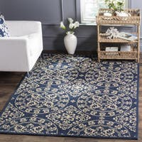 Safavieh Handmade Cedar Brook Navy/ Natural Jute Rug - 5' x 7'