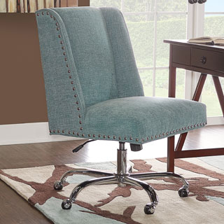 Linon Violet Office Chair - Aqua