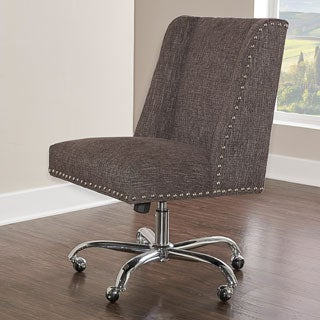 Linon Violet Office Chair - Charcoal