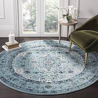 Safavieh Evoke Vintage Oriental Light and Dark Blue Distressed Rug (6'7 Round)