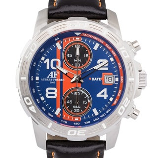 Aubert Freres Durand Men's Chronograph Quartz w/ Tachymeter and Adjustable Genuine Leather Strap