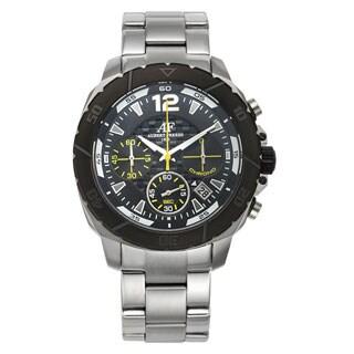Aubert Freres Lagasse Chronograph Men's Sport Watch Multi-Textured Dial Stainless Steel Bracelet