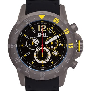 Brandt & Hoffman Men's Forsyth Swiss Chronograph Watch with Bead Blasted Finish, and Super-LumiNova Hands