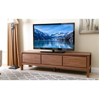 Abbyson Living Avion 70-inch Walnut Wood Entertainment Center