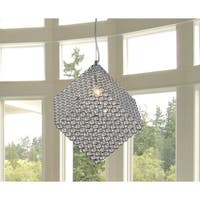 Grace 1-light Cubic Crystal 8-inch Chrome Chandelier