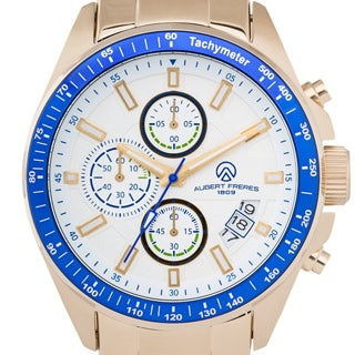 Aubert Freres Batali Men's Chronograph Quartz Watch Stainless Steel Case and Bracelet