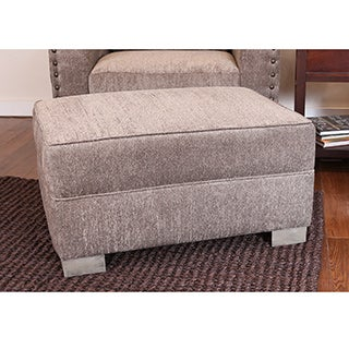 Bombay Watertown Pewter Ottoman