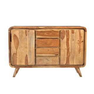 Handmade Wanderloot Oslo 2-door, 4-drawer Solid Sheesham Sideboard (India)