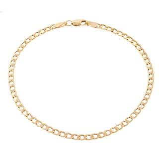 Pori Men's 10k Gold Cuban Chain Bracelet
