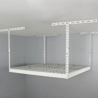 SafeRacks White 4' x 4' Overhead Garage Storage Rack