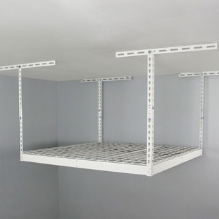 SafeRacks White 4' x 4' Overhead Garage Storage Rack