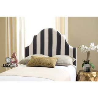 Safavieh Connie Black And White Stripe Upholstered