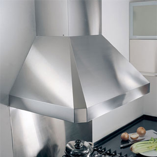 "KOBE RA0242SQB-DC24-5 Deluxe 42"" Wall Mount Range Hood, 3-Speed, 1100 CFM, LED Lights, Baffle Filters"