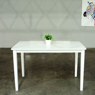 Hazel Modern White finish 47.2-inch Wood Dining Table