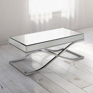 Furniture of America Orelia Luxury Chrome Metal Coffee Table
