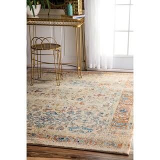 nuLOOM Vintage Ornate Floral Adileh Multi Rug (5'3 x 7'9)