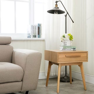Porthos Home Lorraine Mid-Century Single-Drawer End Table