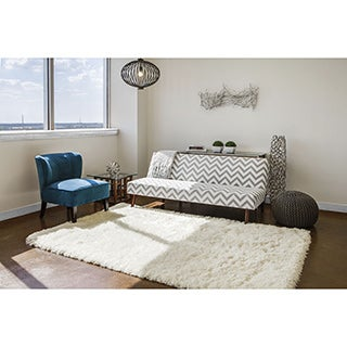 Grand Bazaar Hand-Tufted Roux Shag Rug in Fog (9'6 x 13'6)