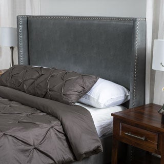 Amory King/California King Wingback Bonded Leather Headboard by Christopher Knight Home