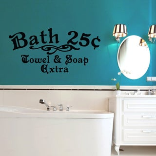 Bath 25c Towel and Soap Extra 48 x 24-inch Bathroom Wall Decal