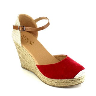 Beston AB01 Women's Espadrille Platform Wedge Sandals