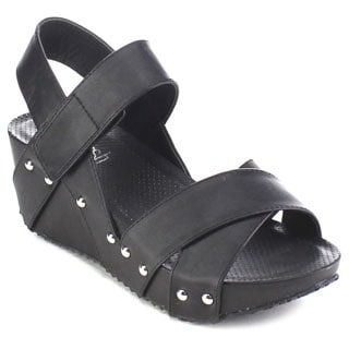 Beston AA99 Women's Crisscross Platform Wedge Sandals