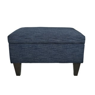 MJL Furniture Brooklyn Upholstered Lucky Square-legged Box Storage Ottoman