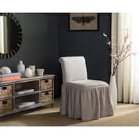 Safavieh Ivy Taupe Linen Vanity Chair