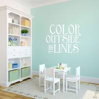 Color Outside The Lines Wall Decal 36-inch Wide x 30-inch Tall