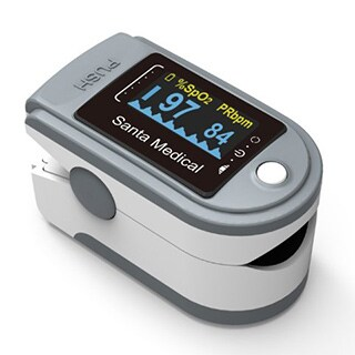 Santamedical Generation 2 SM-165 Fingertip Pulse Oximeter Oximetry Blood Oxygen Saturation Monitor