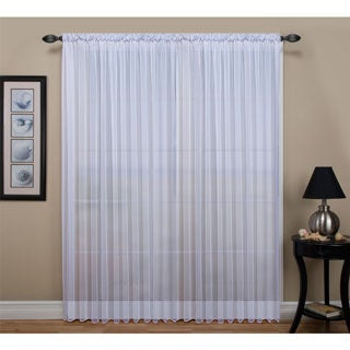 Tergaline Extra Wide Tailored Rod Pocket Curtain Panel with Weighted Corded Bottom Hem