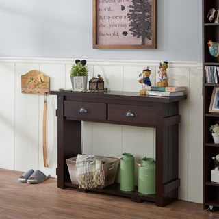 Furniture of America Barlen Modern Walnut 2-drawer Console Table