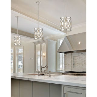 Z-Lite Almet 1-light Mini Pendant in Brushed Nickel