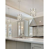 Almet Brushed Nickel 1-light Mini Pendant