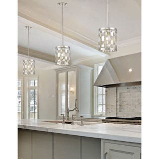 Buy mini pendant lights online at overstock our best lighting avery home lighting almet brushed nickel 1 light mini pendant aloadofball Gallery