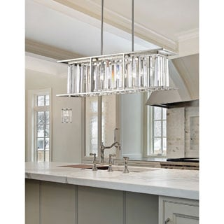 Z-Lite Monarch 5-light Island Light in Brushed Nickel